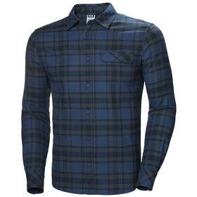 Helly Hansen Classic Check T-shirt à manches longues Homme, blue fog plaid